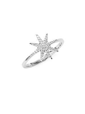 Click here for Starburst Diamond and 14K White Gold Ring prices
