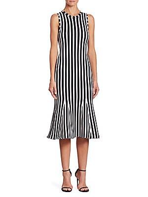 Wide Striped Dress