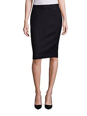 Tweed & Jersey Pencil Skirt