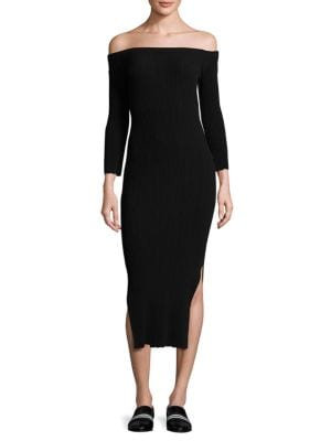 Kari Off-The-Shoulder Midi Dress