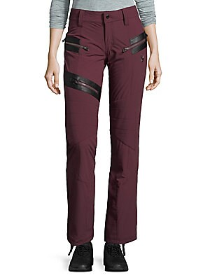 Two-Tone Paneled Pants