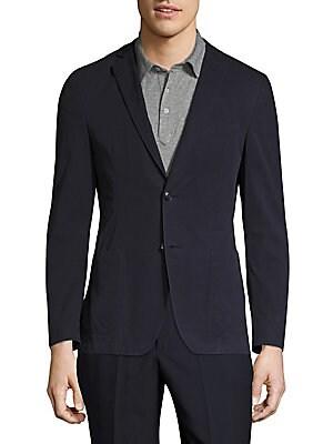 Classic-Fit Cotton Blazer