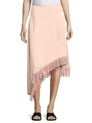 Ailie Asymmetric Ruffle Hem Skirt