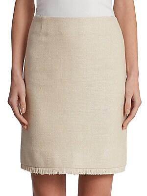 Silk Fringe Skirt