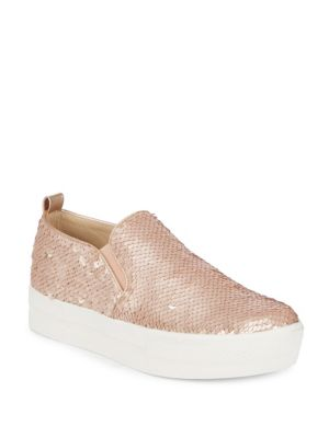 Evann Blush Sequin Sneakers