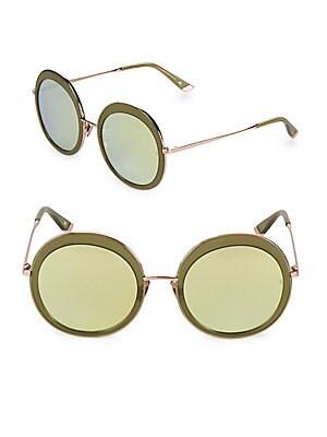 55MM Abella Round Sunglasses