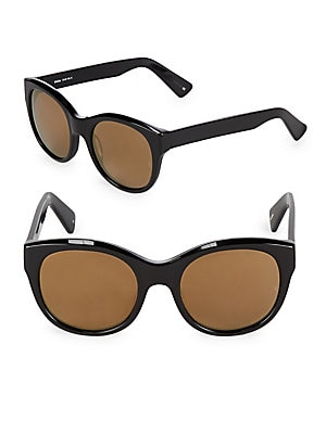 52MM Dolly Mirrored Cat-Eye Sunglasses