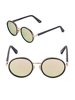 50MM Round Mirrored Sunglasses