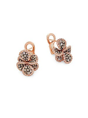 14K Rose Gold & Diamond Stud Earrings