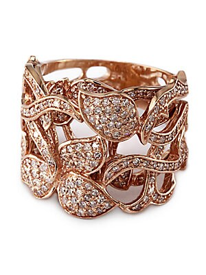 Diamond Ring in 14 Kt. Rose Gold, 0.94 ct. t.w.