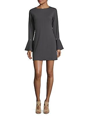 Flared-Sleeve Mini Dress