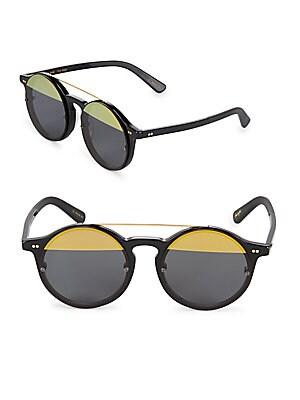51MM Matahari Two-Tone Round Sunglasses