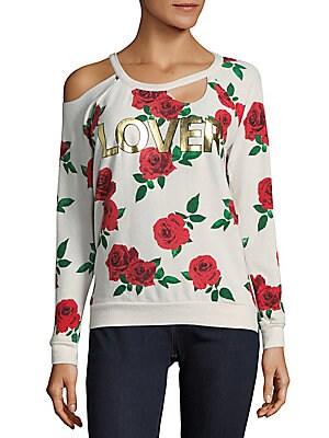 Floral Cold Shoulder Sweatshirt