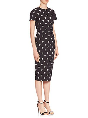 Daisy-Print Sheath Dress