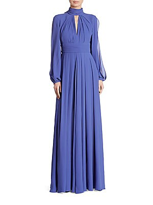Pleated Silk Gown