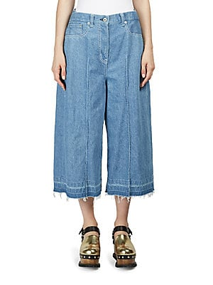 Denim Wide-Leg Trousers