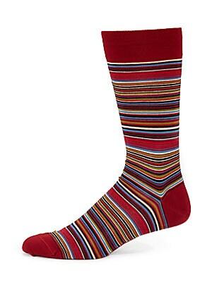 Poncho Striped Dress Socks