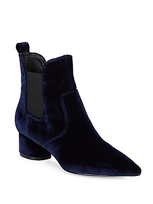 Velvet Chelsea Boots