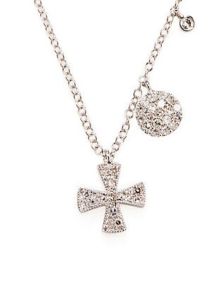 Click here for Cross Diamond and 14K White Gold Pendant Necklace prices
