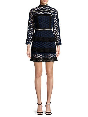 Star Lacework Mini Dress