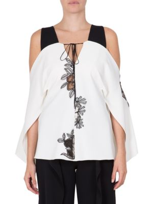 Marcus Printed Cold-Shoulder Top