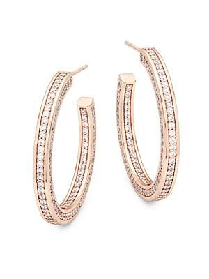Crystal Radiance Hoop Earrings