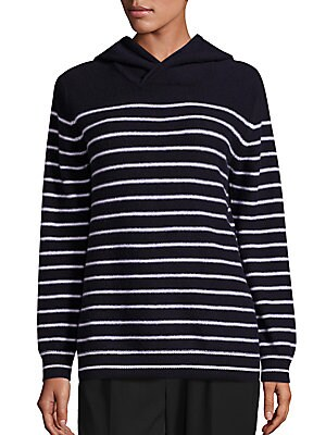 Cashmere Hooded Striped Sweater