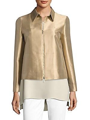 Adaya Silk & Cotton Shantung Jacket