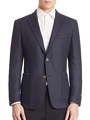 Diamond Wool & Mohair Sportcoat