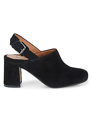 Tami Suede Block Heel Back Strap Mules