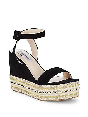 Reeva Suede Bead Jute Platform Sandals