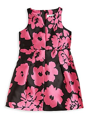 Girl's Floral Print Racerback Dress