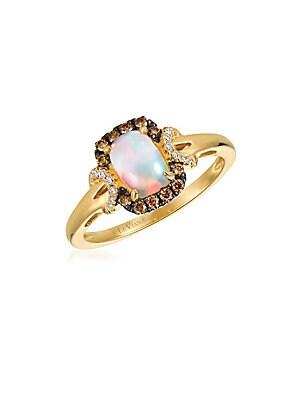 Le Vian Chocolatier Diamond, Opal & 14K Yellow Gold Ring