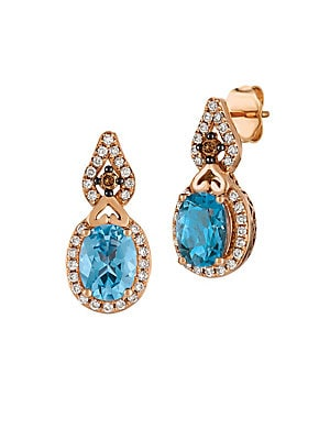 Le Vian Chocolatier Diamond, Topaz & 14K Rose Gold Earrings