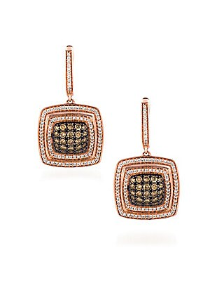 Le Vian Chocolatier Diamond & 14K Rose Gold Drop Earrings