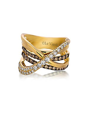 Le Vian Chocolatier Gladiator Weave Diamond & 14K Rose Gold Ring