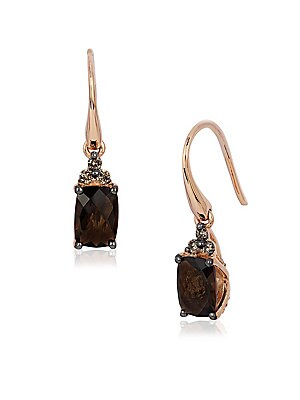 Le Vian Chocolatier Diamond, Quartz & 14K Rose Gold Earrings