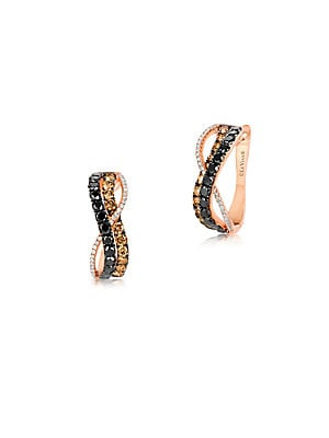 Le Vian Exotics Diamond & 14K Rose Gold Infinity Earrings