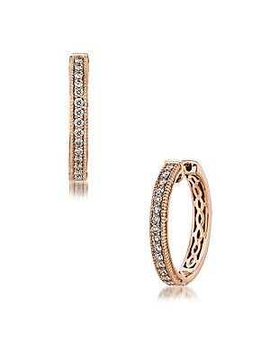Le Vian Chocolatier Diamond & 14K Rose Gold Huggies Earrings