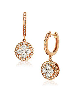 Le Vian Diamond & 14K Rose Gold Drop Earrings