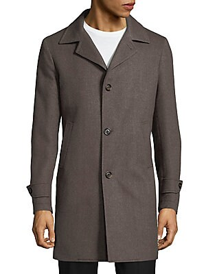 Buttoned Wool Coat