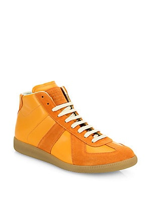 Replica Mid-Top Leather Sneakers