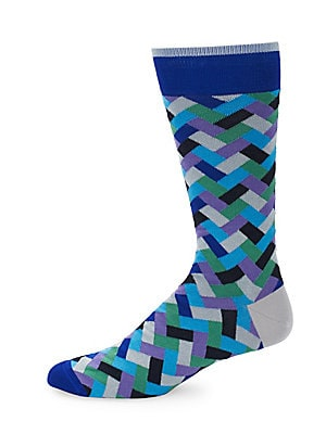 Multicolored Chevron Socks