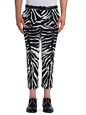 Zebra Printed Regular Pants