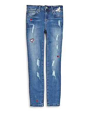 Girl's Embroidered Jeans