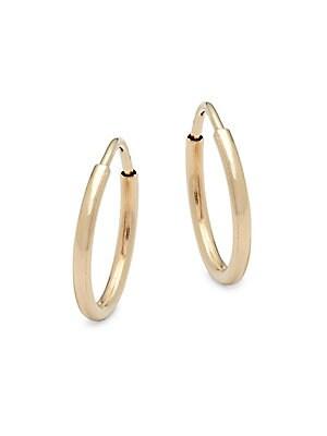 14K Yellow Gold Small Endless Hoop Earrings