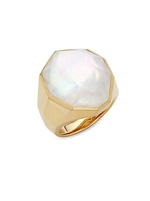 Click here for 18K Gold & White Crystal Solitaire Ring prices