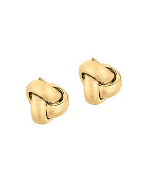 14K Yellow Gold Knot Stud Earrings