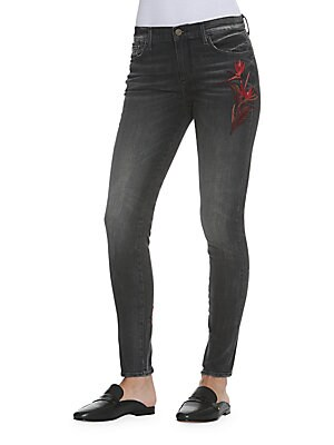 Bird Paradise Embroidered Jeans