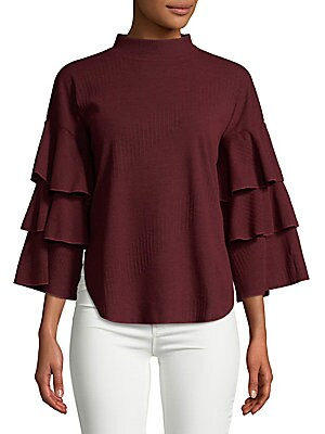 Overlapping Frilled Sweater